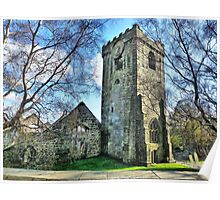 Heptonstall Church Ruins. Poster