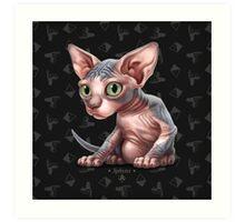 Cataclysm - Sphynx Kitten - Sphinx and Pyramids Art Print