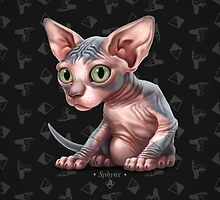 Cataclysm - Sphynx Kitten - Sphinx and Pyramids by Iker Paz Studio