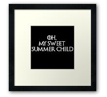 Summer Child-GOT-white Framed Print