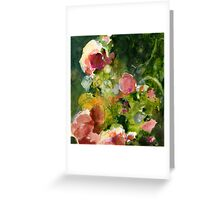 Pink & Sienna Flowers Greeting Card