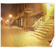 Snow - Lower East Side - New York City Poster