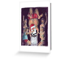 Santas Keg-Stand Christmas Card! Greeting Card