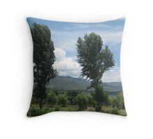 Trees in the wind Throw Pillow