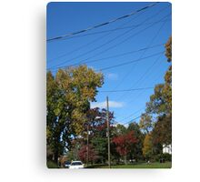 Fall 2011, My Street Canvas Print