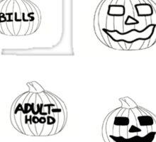 Scariest Pumpkins Around Sticker