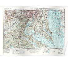 USGS Topo Map District of Columbia DC Washington 257791 1957 250000 Poster