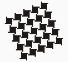 Checkered Patten - Black One Piece - Short Sleeve