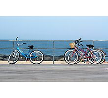Bicycles on the Boardwalk Photographic Print