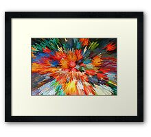 Pumpkin Implosion Framed Print