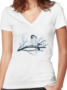 North For The Winter. Women's Fitted V-Neck T-Shirt