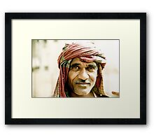 Delhi Construction Worker Framed Print