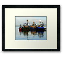 Irish Fishing Boats Framed Print