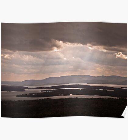 Sunlight on Lake Winnipesaukee Poster