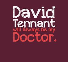 David Tennant will always be my Doctor - RED Womens Fitted T-Shirt