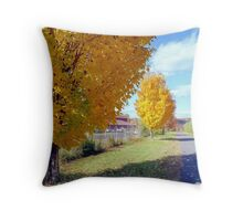 Autumn trees, New England Throw Pillow