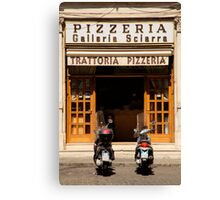 Time for a pizza Canvas Print