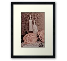 Old fashioned thanks on card. Framed Print