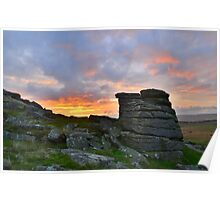 Dartmoor: Sunrise at Parliment Rock Poster
