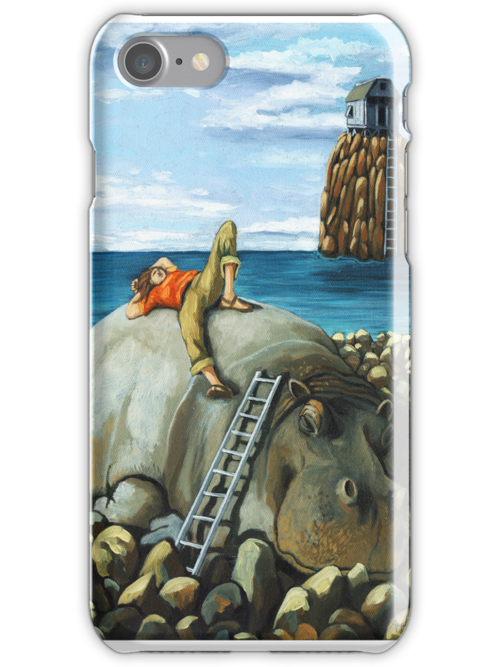 Lazy Days - iphone case nature by LindaAppleArt