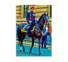 Saddled soldier Art Print