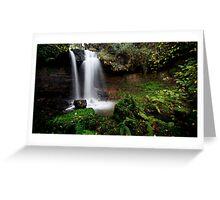 Scaling Beck Waterfall Greeting Card