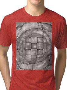 CHECKERED SPIRAL ILLUSIONS Tri-blend T-Shirt