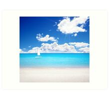 Azure Paradise Art Print