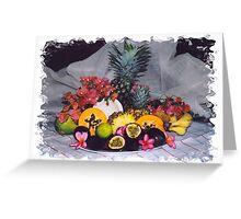 tropical fruit Greeting Card