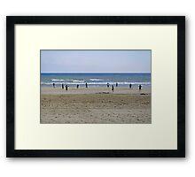 Beach Cricket, Bridlington Framed Print