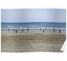 Beach Cricket, Bridlington Poster