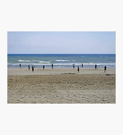 Beach Cricket, Bridlington Photographic Print