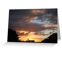Sweeping Clouds at Sunset Greeting Card