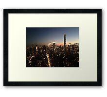 NYC at Night Framed Print