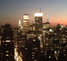 NYC at Night Sticker