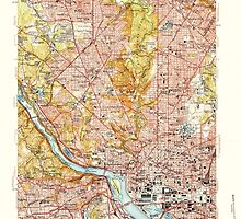 USGS Topo Map District of Columbia DC Washington West 256983 1951 24000 by wetdryvac