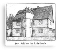 Georg Lilie Leimbach Schloss Canvas Print