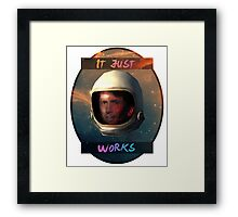 Todd Howard in Space just works Framed Print