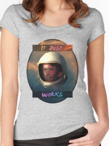 Todd Howard in Space just works Women's Fitted Scoop T-Shirt