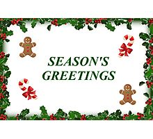 Seasons Greetings Photographic Print