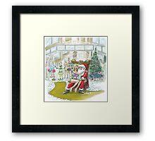 "Santas ""Helper"" Christmas card! Framed Print"