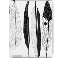 Black and White Feathers Print iPad Case/Skin