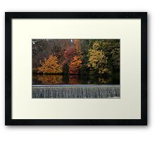 Above the Dam Framed Print