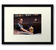 man with world cup Framed Print