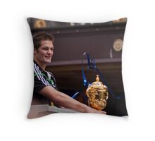 man with world cup Throw Pillow