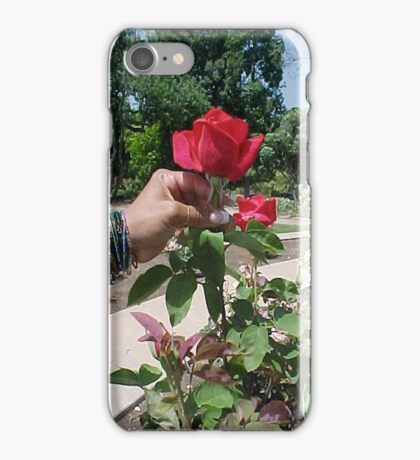 Rose and a Lady... iPhone Case/Skin