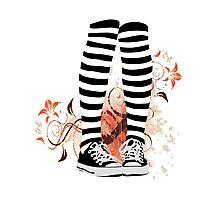 Chucks & Stripes Photographic Print