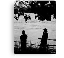 Silhouettes - Brisbane Floods 2011 Canvas Print