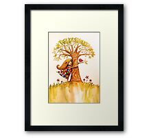tree hugs Framed Print