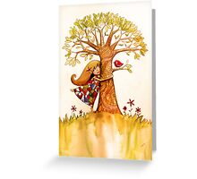 tree hugs Greeting Card